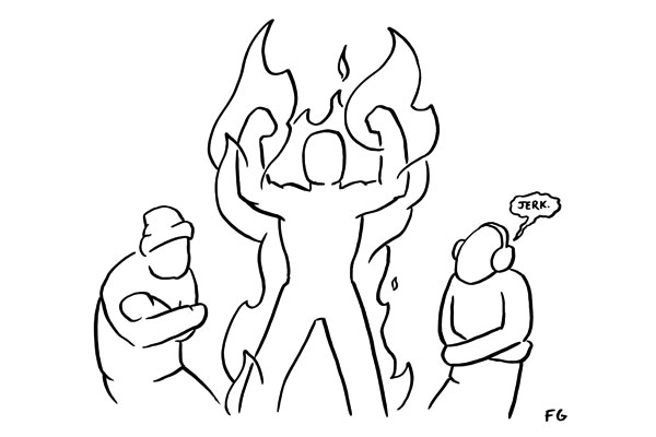 Line Drawing Fire : Be on fire feld thoughts